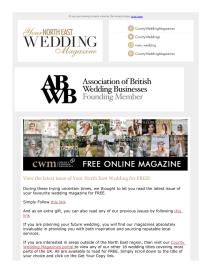 Your North East Wedding magazine - April 2021 newsletter