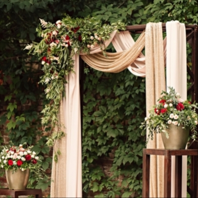 It's all about organising the finishing touches when it comes to dressing your wedding venue