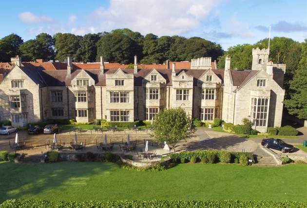 The beautiful exterior at Redworth Hall Hotel