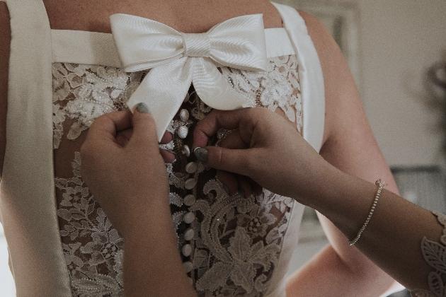 Bride's dress back detail