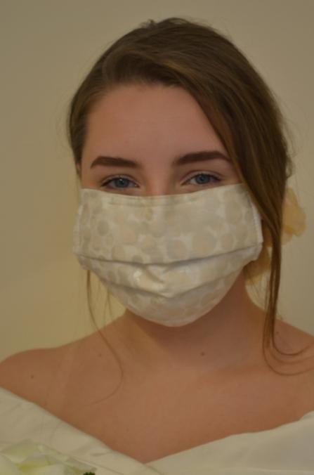 Face mask created by Amble Pin Cushion
