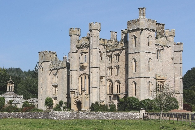 The beautiful exterior at Duns Castle