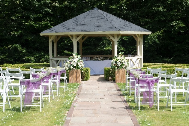 The ceremony space at The Hall Garth Hotel, in Darlington