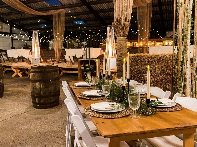The reception space at The Barn on The Bay, in Northumberland