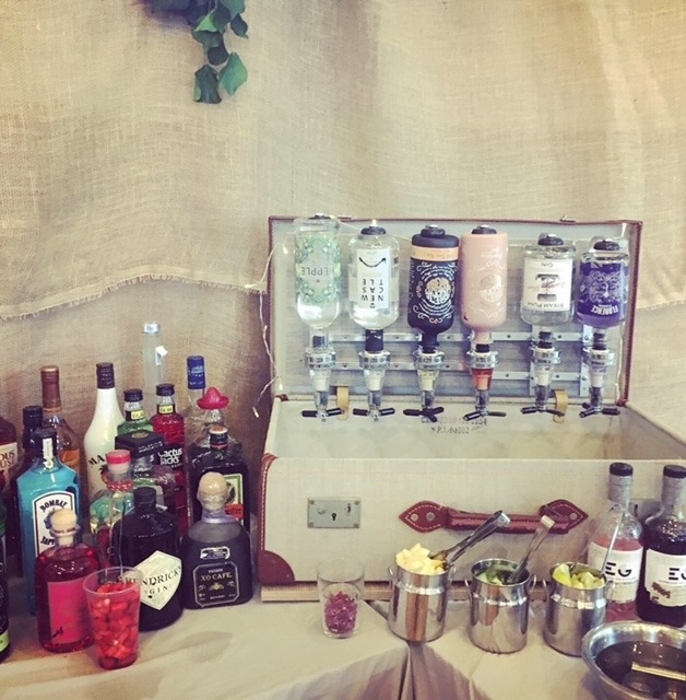 Nickynoo Quirky Mobile Bars vintage gin suitcase
