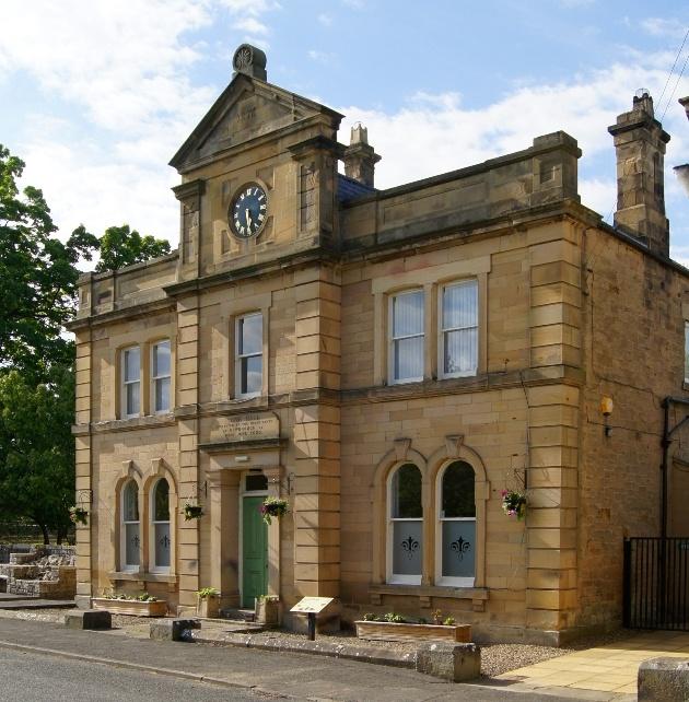 Newbrough Town Hall's beautiful exterior
