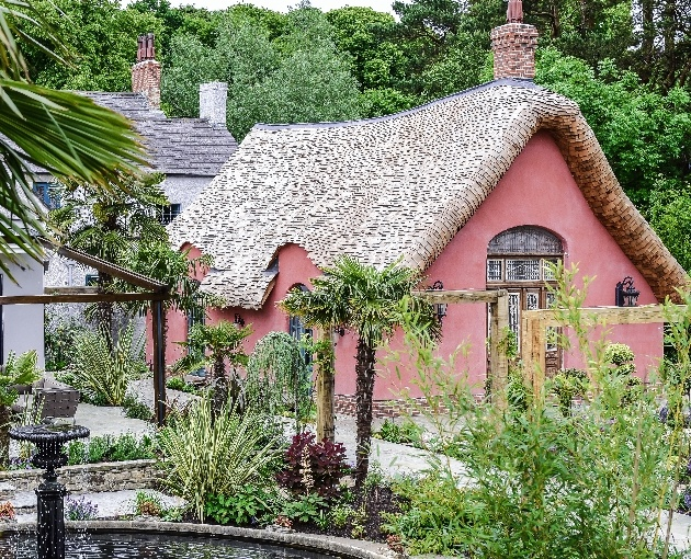 The charming exterior at Le Petit Château in Northumberland